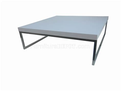 coffee table legs modern white finish modern coffee table w chrome legs