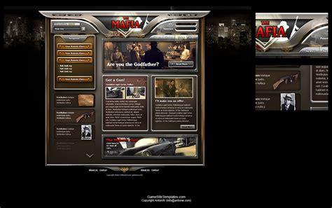 Mafia Design Gaming Website Template