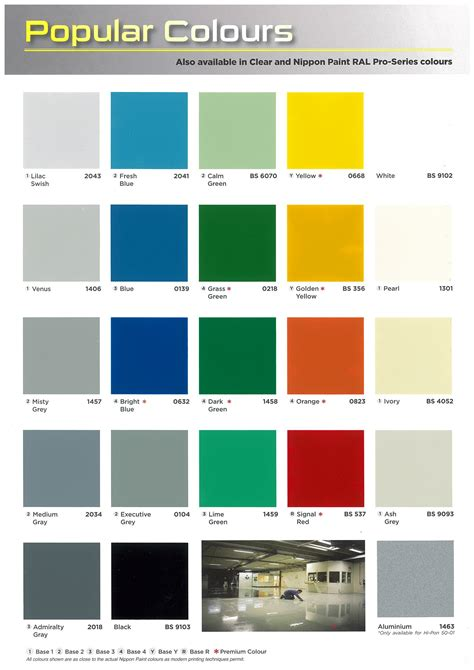 nippon color chart images chart exle ideas