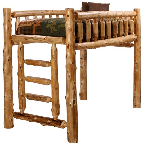 loft style bunk bed log bunk beds minnesota log home