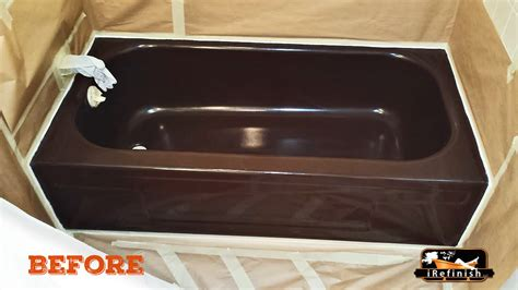 brown bathtub before brown tub irefinish of oregon tub shower tile