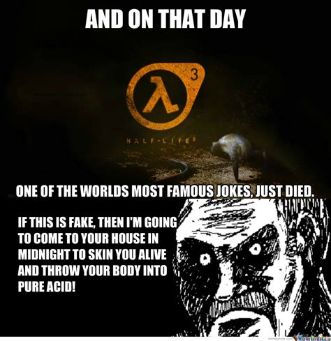 Half Life 3 Meme - rmx half life 3 confirmed by recyclebin meme center