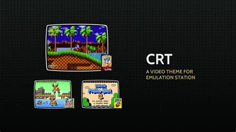adding themes to retropie a theme for emulation station crt youtube