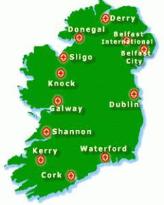 Car Rental Agencies In Ireland Dublin To Knock Map