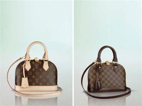 Tas Louis Vuitton Alma Bb Damier Ebene Summer 2016 M91606 louis vuitton damier ebene and monogram canvas alma bb bag