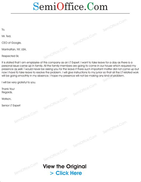 Apology Letter To For Family Problems Leave Application For Family Problem Sle
