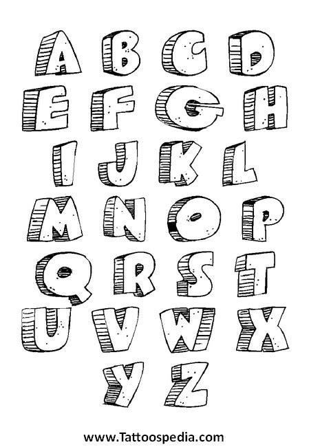 tattoo fonts a z tony baxter