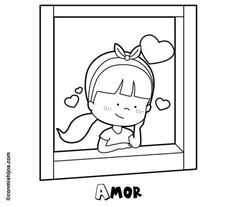 imagenes para colorear ventana dibujo de una ni 241 a enamorada mirando por la ventana para