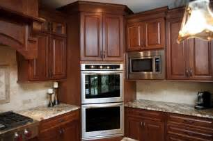Kitchen Oven Cabinets Corner Double Oven Space Saver The House