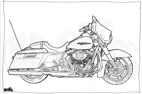 harley davidson coloring pages harley davidson road glide clip sketch coloring page