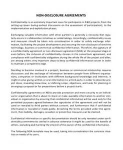 Basic Non Disclosure Agreement Template Simple Non Disclosure Agreement Form 12 Free Word Pdf