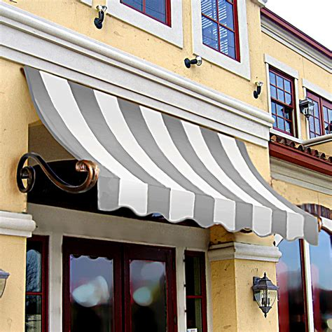 awntech awning shop awntech 124 5 in wide x 36 in projection gray white