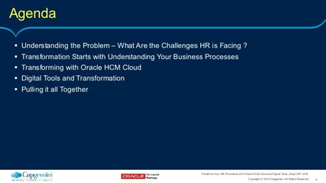 Mba Hr Cloud by Transform Your Hr Processes With Oracle Hcm Cloud And