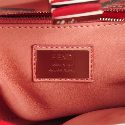 Mini Fendy Eye fendi nappa karung mini peekaboo satchel