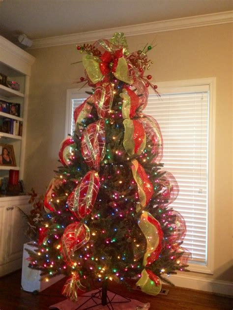 tree topper ideas with ribbon tree topper deco mesh