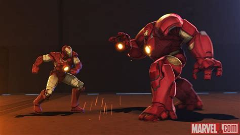 marvel ironman and hulk in film hulk armor featured in iron man hulk heroes united