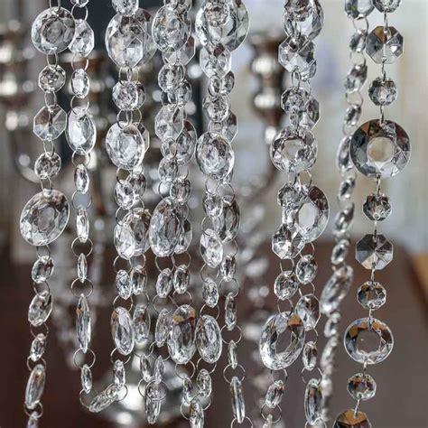 acrylic crystal garland pearl spools basic craft