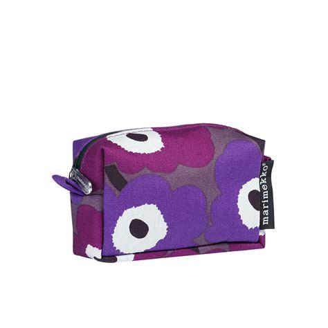 Mini Cosmetic Pouch marimekko unikko violet purple white itu mini cosmetic bag
