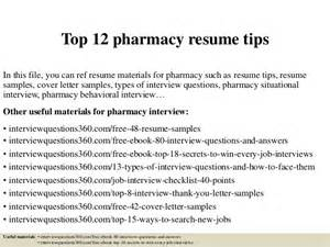 top 12 pharmacy resume tips