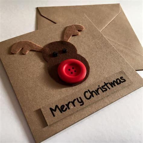 Handmade Reindeer Cards - rudolph the reindeer handmade card skelter
