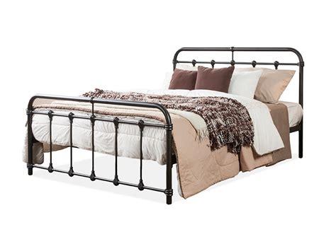 baxton studio mandy chic vintage antique dark bronze queen size iron metal platform bed