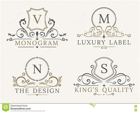 business card monogram template luxury logo template shield business sign for signboard