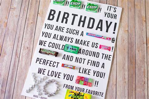 Gram Birthday Card Candy Gram Birthday Card Printable Who Arted