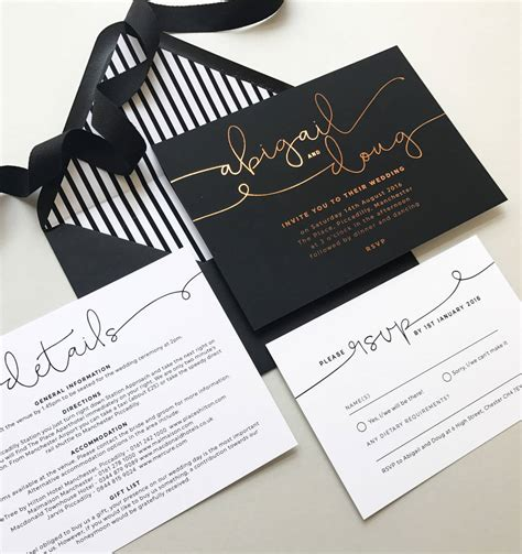 wedding invites kate foil wedding invitations by project pretty notonthehighstreet