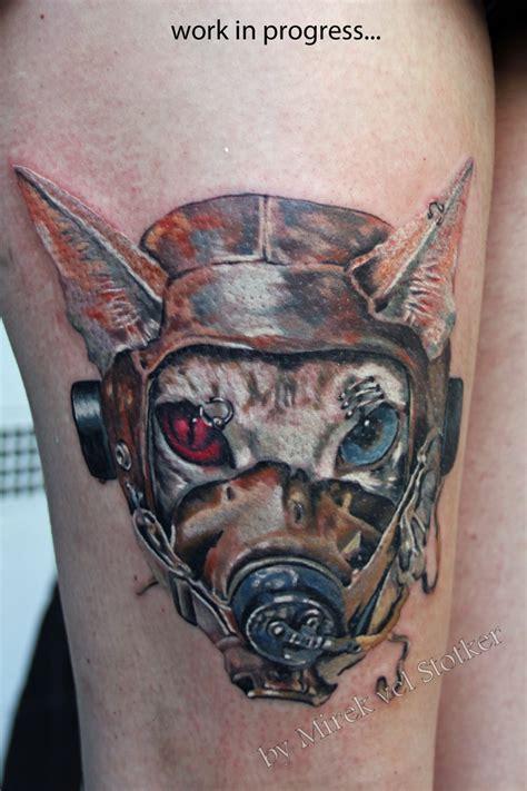 animal tattoo london cat in pilot hat tattoo gato en el sombrero by mirek vel