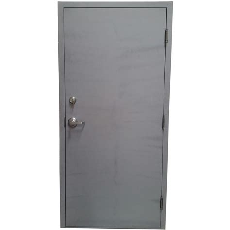 left outswing exterior door armor door 36 in x 84 in gray left