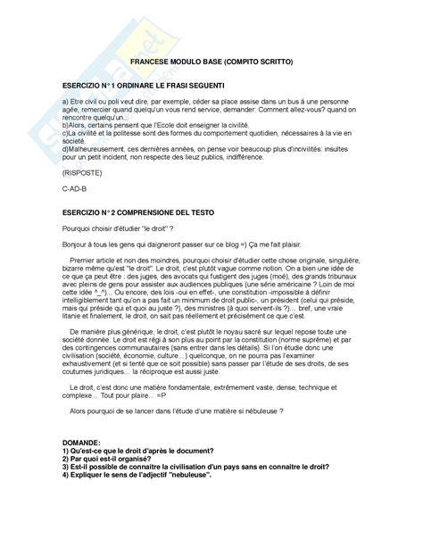 comprensioni testo inglese lingua giuridica francese esercizi