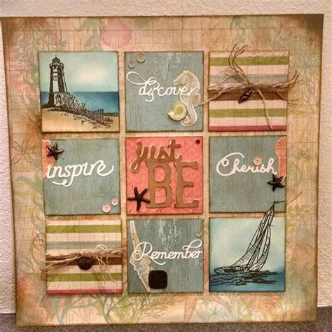 Scrapbook Layout Holder | my frame up for june home decor using seaside www