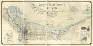 1889 map of multnomah county oregon