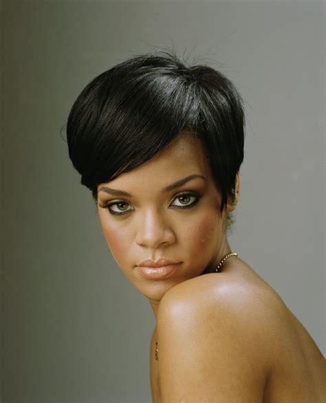 black hairstyles rihanna rihanna short elegant hairstyle thirstyroots com black