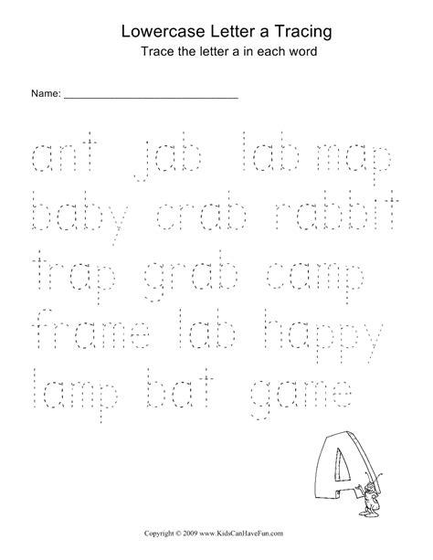 Traceable Words Worksheets by Alphabet Tracing Worksheets Kidscanhavefun