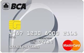 bca mastercard bca silver card fees