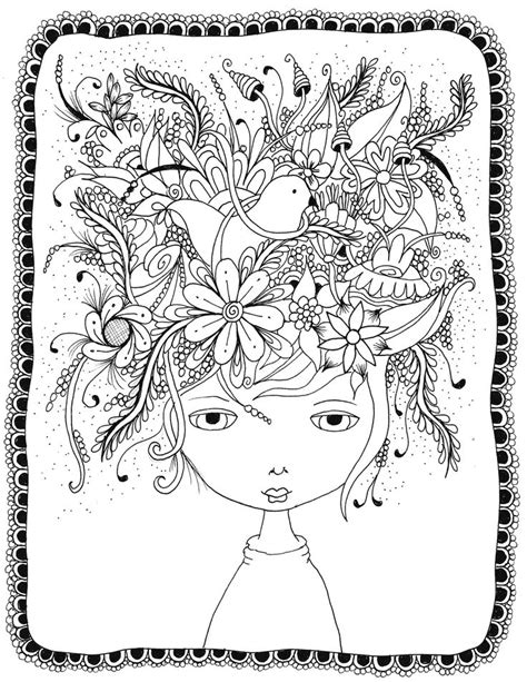 10 crazy hair adult coloring pages page 3 of 12 nerdy 1000 images about coloriage d 233 tente on pinterest adult