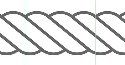 illustrator pattern rope drawing vector rope in illustrator tutorials pinterest