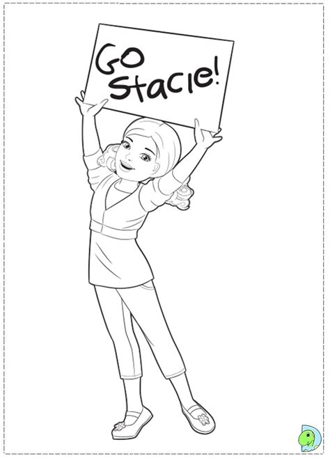 barbie stacie coloring pages barbie and her sisters in a pony tale coloring barbie