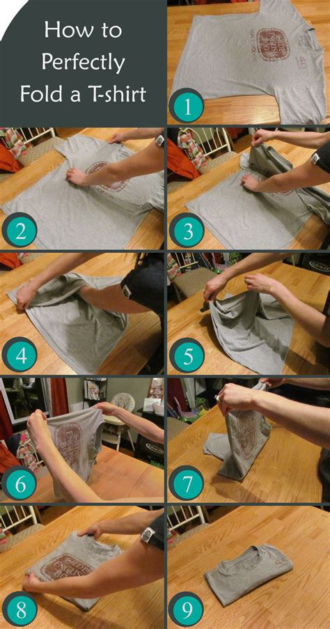how to perfectly fold t shirts happy home happy life