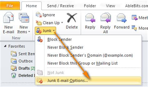 Outlook Not Searching Emails Properly How To Stop Spam By Configuring Outlook Junk E Mail Filter