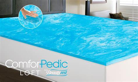 memory foam 1 quot mattress topper groupon goods