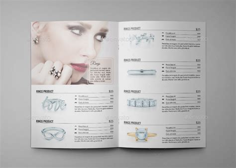 catalog template indesign free jewelry a4 indesign catalog template hp0011 by annozio