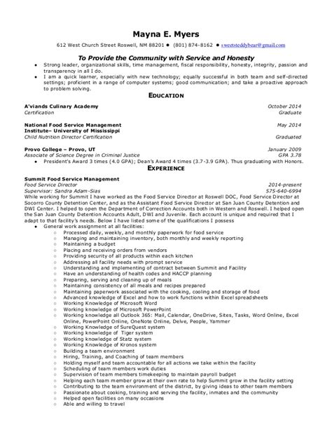 Resume R D Food by Resume Food Service Operation Support Manager