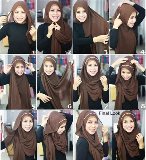 tutorial hijab chic simple simple pleated criss cross step by step tutorial girls