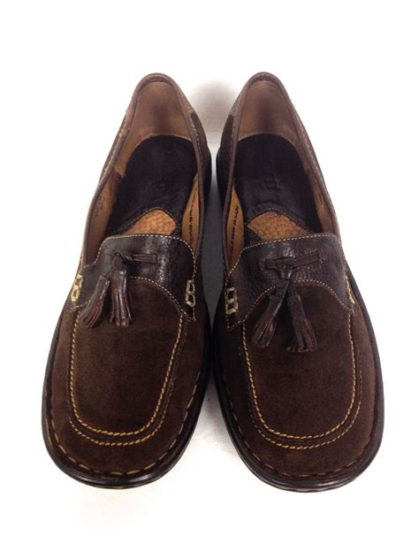 brown loafers womens shoes born shoes 7 5 womens brown leather loafers for sale