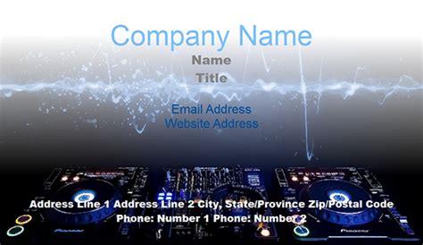 dj business card templates juicybc blog