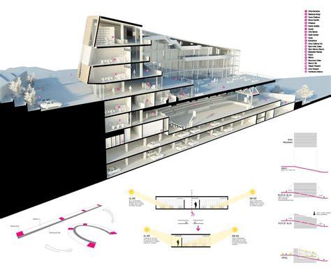 architecture section gallery of şişli high school competition entry cem