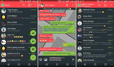 cool themes for whatsapp plus indian idiots whatsapp plus theme darkmaterial 1