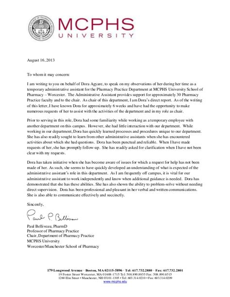 Acceptance Letter From Boston Paul Belliveau Pharmd